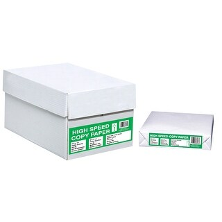 High Speed 3-Hole Copy Paper, 8-1/2 x 11 Inches, 10 Packs with 500 Sheets Each