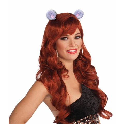 Animal Ears Costume Hair Clips: Mouse - Purple