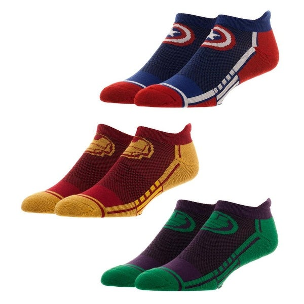 Avengers 3 Pair Active Ankle Socks