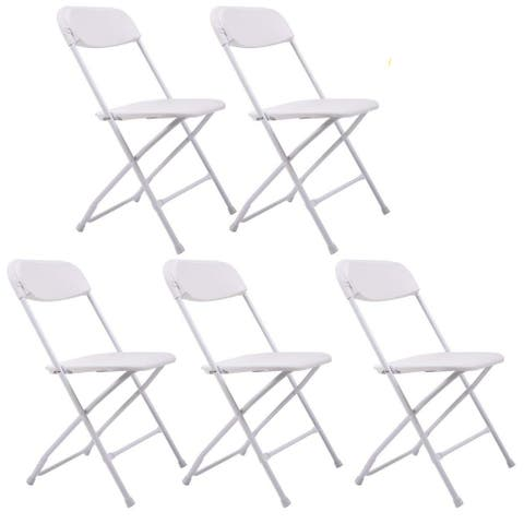 Stackable Lightweight Commercial Folding Chairs (Set of 5)