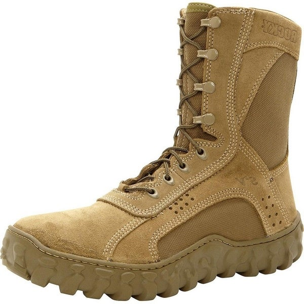 "Rocky Tactical Boots Mens 8 1/2"" S2V Coyote Brown"