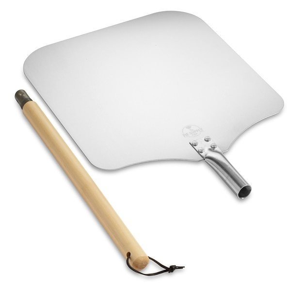 Aluminum Pizza Peel with Detachable Handle by Pie Supply. Opens flyout.