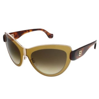 Balenciaga BA0001S 45F Mustard/Havana Cat Eye Sunglasses