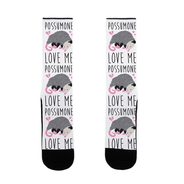 Shop Lookhuman Possumone Love Me Opossum Us Size 7 13 Socks Free