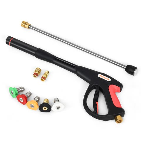 Pressure Washer Gun 4000 PSI W/20'' Extendable Wand 5 Nozzle Tips
