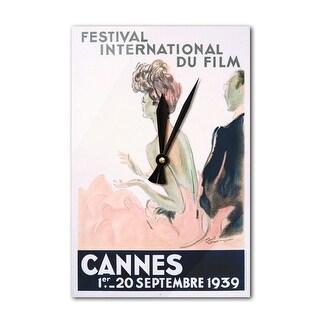 France - Cannes Festival International Film - (artist: Domergue c. 1939) - Vintage Ad (Acrylic Wall Clock)