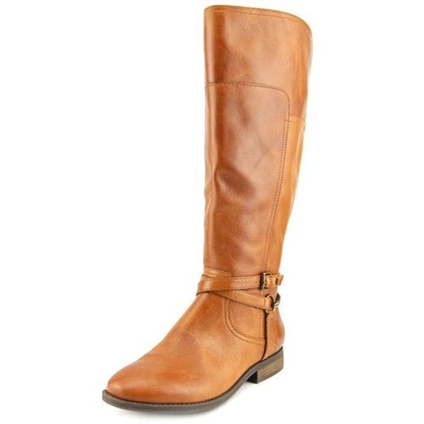 Marc Fisher Alexis Wide Calf Women  Round Toe Leather  Knee High Boot
