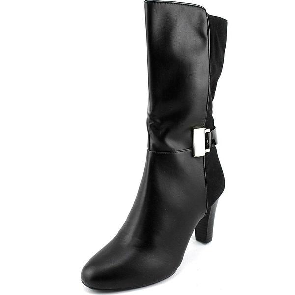 Karen Scott Viivi Women Round Toe Synthetic Black Mid Calf Boot