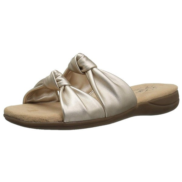 LifeStride Womens Eden Open Toe Casual Slide Sandals