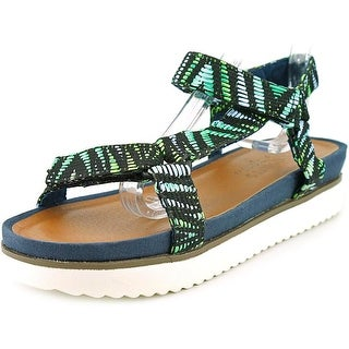 Coconuts By Matisse River Women  Open-Toe Canvas Green Slingback Sandal
