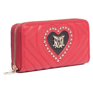 Moschino JC5525 150A Red/Black Zip Around Wallet