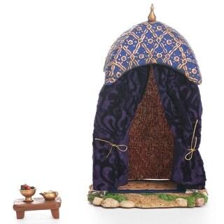"2-Piece Fontanini 5"" Nativity Village Purple King's Tent and Table Set #55569"