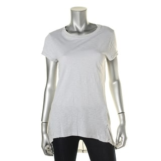 Blank NYC Womens Short Sleeves Hi-Low Pullover Top - XS