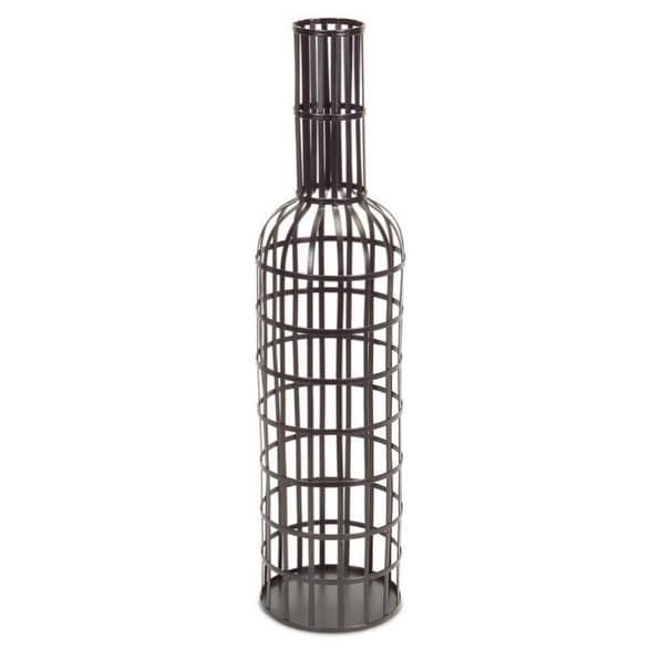 Shop 40 Dapper Black Bottle Shaped Decorative Wine Cork Caddy Delectable Decorative Bottles With Corks