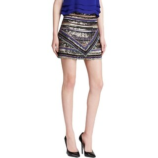 Parker Womens A-Line Skirt Sequinned Beaded