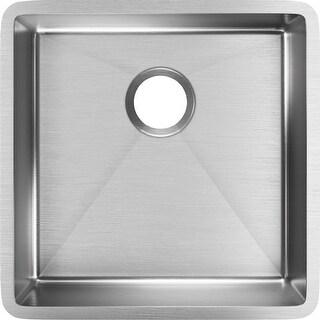 Elkay ECTRU17179T  Crosstown Undermount Single Basin Stainless Steel Kitchen Sink with Sound Dampening - Stainless Steel