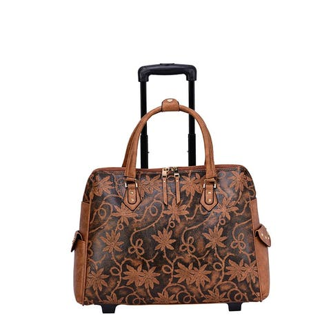 Mellow World Risa Carry On Floral Rolling Laptop Tote