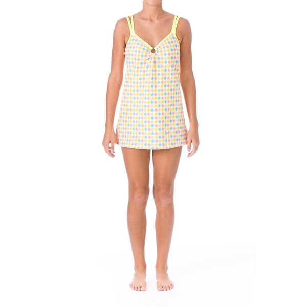 Mainstream Womens Argyle Textured Swimdress