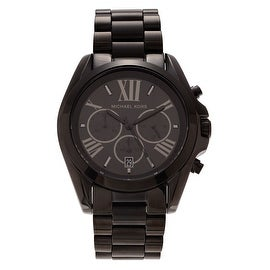 Michael Kors Men's 'Bradshaw' MK5550 Black Ion-plated Chronograph Bracelet Watch