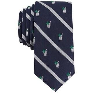 Bar III Blue navy Mint Julep Conersational Striped Men's Neck Tie