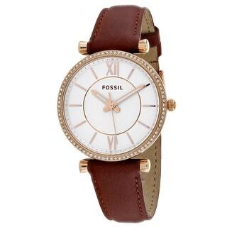 Fossil Women's Carlie ES4428 White Dial watch