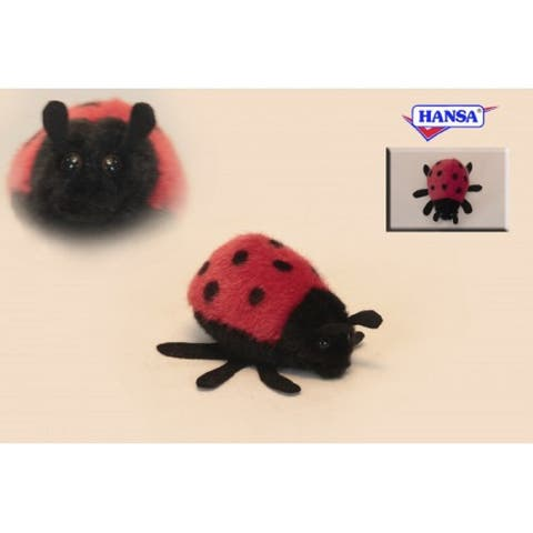 Pack of 8 Life-like Handcrafted Extra Soft Plush Red Mini Lady Bug Stuffed Animals 3.5""