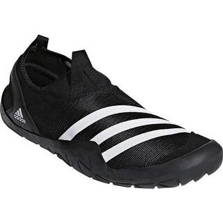 adidas Men's Climacool Jawpaw Slip On Water Shoe Black/White/Silver Metallic