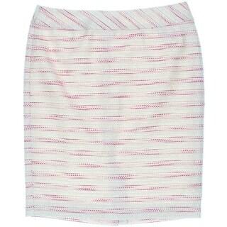 Nine West Womens Textured Metallic Pencil Skirt - 10