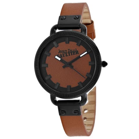 Jean Paul Gaultier Women's Index Brown Dial Watch - 8504314