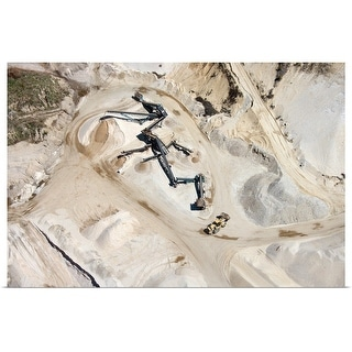 """""""Aerial view of mine in Long Island, New York"""" Poster Print"""