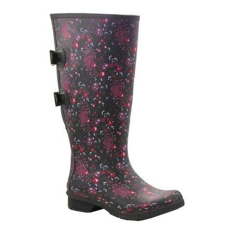Chooka Women's Versa Zuri Wide Rain Boot Black