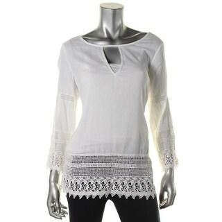 Denim & Supply Ralph Lauren Womens Cotton Lace-Trim Blouse