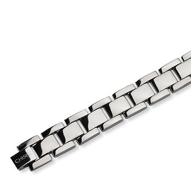 Chisel Polished Titanium Bracelet - 8.5 Inches