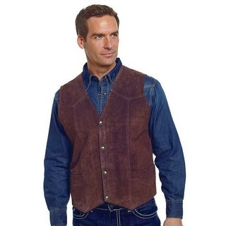 Cripple Creek Outerwear Vest Mens Suede Leather Button Front