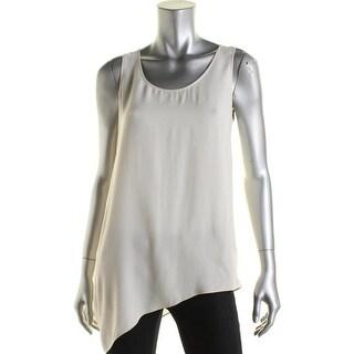 Eileen Fisher Womens Petites Silk Sleeveless Blouse - ps