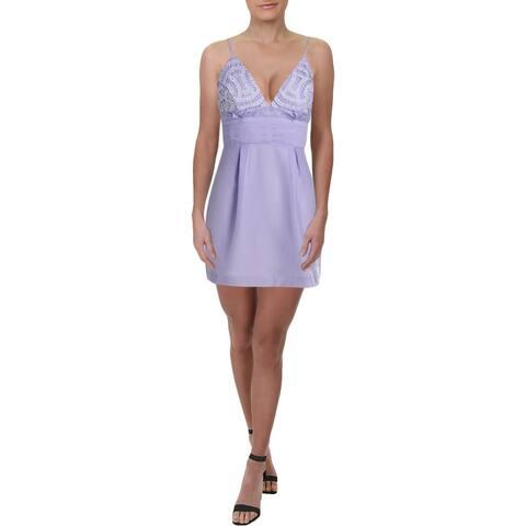 Free People Womens We Go Together Mini Dress Embellished Sleeveless