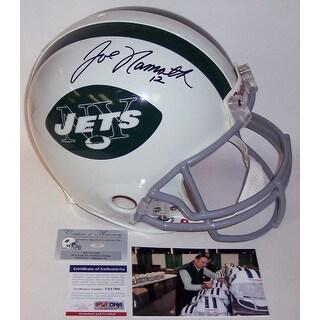 Joe Namath Autographed Hand New York Jets Throwback Authentic Full Size Helmet  PSADNA