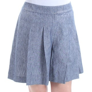 NINE WEST $79 Womens New 1451 Navy Above The Knee A-Line Casual Skirt 12 B+B