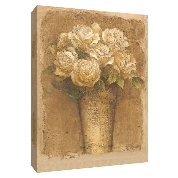 """PTM Images 9-154665 PTM Canvas Collection 10"""" x 8"""" - """"Flowers at Market I"""" Giclee Flowers Art Print on Canvas"""