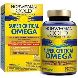 Renew Life Norwegian Gold Super Critical Omega - 60 Fish Gels