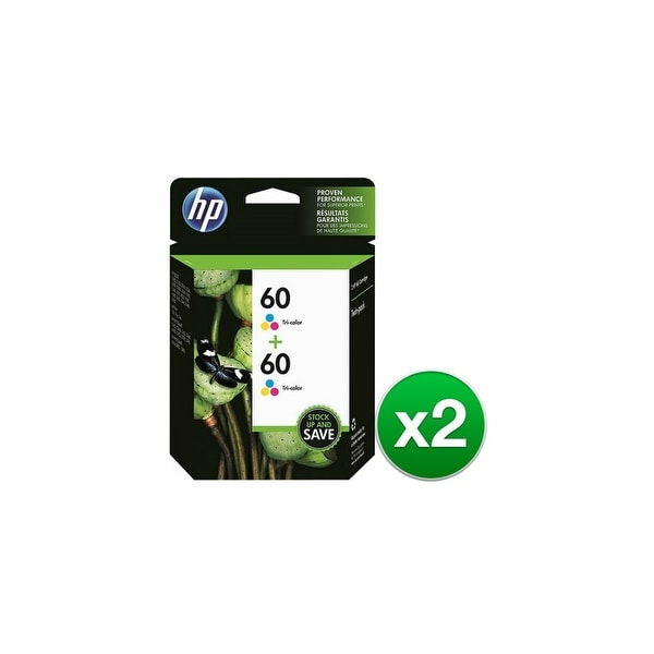 HP 60 Tri-Color Original Ink Cartridges-2 Cartridges (CZ072FN)(2-Pack)