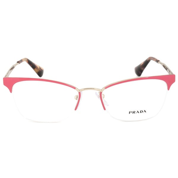 1fd17540354 Shop Prada Cinema PR65QV PDN1O1 Semi-Rimless Cat Eye Eyeglasses ...