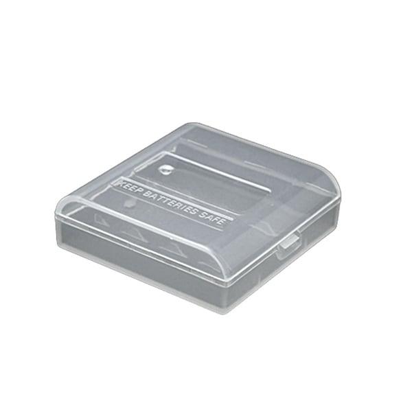 Unique Bargains Clear Plastic Portable Case Holder for 4 AA Battery