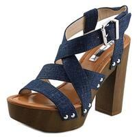 INC International Concepts Camira Women Open Toe Synthetic Blue Platform Sandal