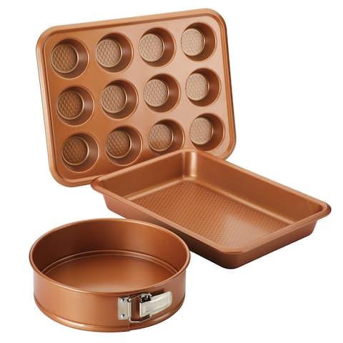 Ayesha Nonstick Bakeware Muffin Cake Pan & Springform Pan Set 3-Piece