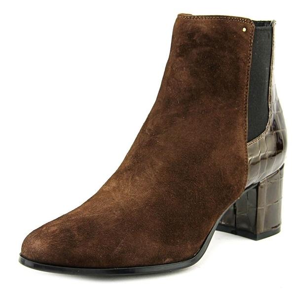 Calvin Klein Felda Women Round Toe Synthetic Brown Ankle Boot