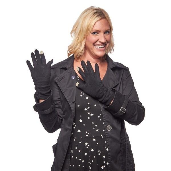 Bonfire Etouch Shirred Jersey Knit Gloves