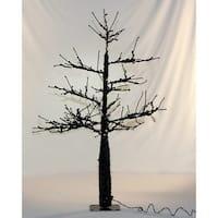 Christmas at Winterland WL-DTR-4.5-BK-LWW Halloween 4.5 Foot Tall Black Spooky LED Lit Tree - black/winter white - N/A