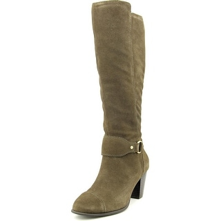 Giani Bernini Cagney Wide Calf Round Toe Suede Knee High Boot