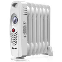 Costway 700W Portable Mini Electric Oil Filled Radiator Heater Safe Room ComforTemp - White